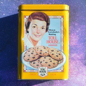 Vintage 70's Nestle Toll House Collectible Tin Box